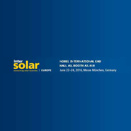 Intersolar Trade show || Monaco, Germania, dal 22 al 24th Giugno 2016